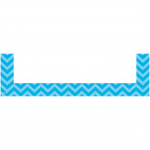 TCR20729 - Aqua Chevron Magnetic Pockets Small in Whiteboard Accessories