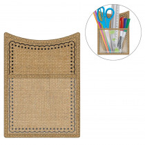TCR20749 - Burlap Magnetic Storage Pocket in Organizer Pockets
