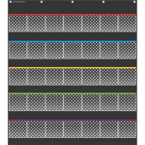 TCR20750 - Black Polka Dots Storage Pocket Chart in Pocket Charts