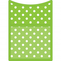 TCR20771 - Lime Polkadot Magnet Storage Pocket in Organizer Pockets