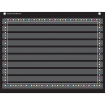 TCR20774 - Chalkboard Brights 10 Pocket 17X22 Pocket Chart in Pocket Charts