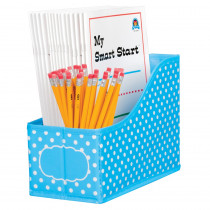 TCR20786 - Aqua Polka Dots Book Bin in Storage Containers