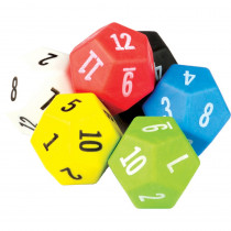 TCR20806 - 12 Sided Dice 6 Pack in Counting