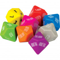 TCR20807 - 8 Pack Place Value Dice in Place Value