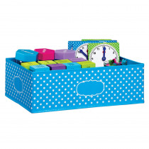 TCR20816 - Medium Aqua Polka Dots Storage Bin in Storage Containers