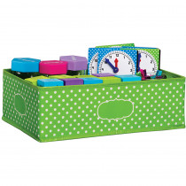 TCR20819 - Medium Lime Polka Dots Storage Bin in Storage Containers