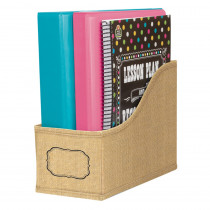 TCR20835 - Burlap Book Bin in Storage Containers
