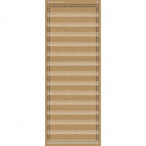 TCR20838 - 14-Pocket Pocket Chart Burlap 13X34 in Pocket Charts