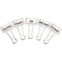 TCR20855 - Confetti Binder Clips Large Mgmt in Clips