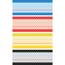 TCR20866 - Polka Dots Word Strips Classic Colors in Sentence Strips