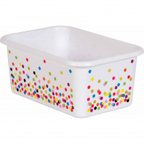 Confetti Small Plastic Storage Bin - TCR20888 | Teacher Created Resources | Storage Containers
