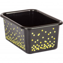 TCR20889 - Black Confetti Small Plastic Bin in Storage