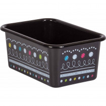 Chalkboard Brights Small Plastic Storage Bin - TCR20894 | Teacher Created Resources | Storage Containers