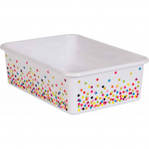 Confetti Large Plastic Storage Bin - TCR20895 | Teacher Created Resources | Storage Containers