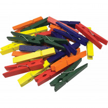 TCR20931 - Medium Multicolor Clothespins 50 Ct Stem Basics in Clothes Pins