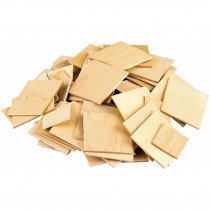 TCR20939 - Stem Basics Wooden Squares 150 Ct in Wooden Shapes