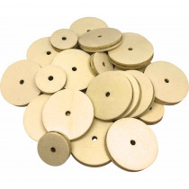TCR20940 - Stem Basics Wooden Wheels 60 in Wooden Shapes