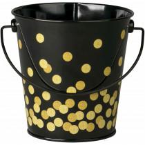 Black Confetti Bucket - TCR20975 | Teacher Created Resources | Desk Accessories