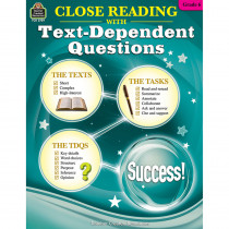 TCR2739 - Gr 6 Close Reading W/Text Questions in Comprehension