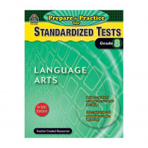TCR2898 - Prepare & Practice For Standardized Tests Language Arts Gr 8 in Language Arts