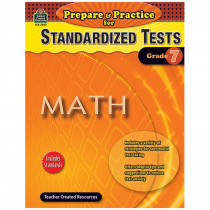TCR2907 - Prepare & Practice For Standardized Tests Math Gr 7 in Math