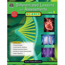 TCR2925 - Differentiated Lessons  Assessments Science Gr 5 in Differentiated Learning