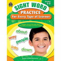 TCR3059 - Sight Word Practice For Every Type Of Learner Gr 1-2 in Sight Words