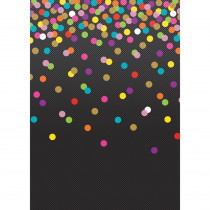 Better Than Paper Bulletin Board Roll, 4' x 12', Colorful Confetti on Black, 4 Rolls - TCR32354 | Teacher Created Resources | Bulletin Board & Kraft Rolls