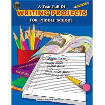 TCR3256 - A Year Full Of Writing Projects Middle School in Writing Skills