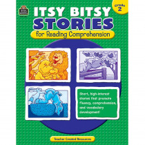 TCR3262 - Itsy Bitsy Stories For Reading Comprehension Gr 2 in Comprehension