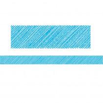 TCR3414 - Aqua Scribble Straight Border Trim in Border/trimmer