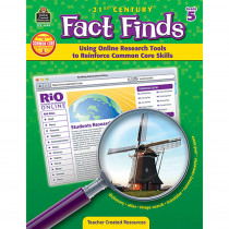 TCR3494 - 21St Century Fact Finds Gr 5 in Games & Activities