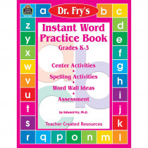 TCR3503 - Instant Word Practice Book Dr Fry in Word Skills