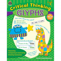 TCR3591 - Critical Thinking Glyphs Gr 2 in Books