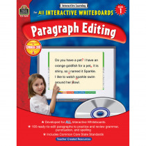 TCR3610 - Interactive Learning Gr 1 Paragraph Editing W/Cd in Editing Skills