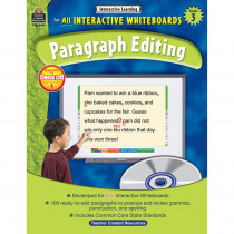 TCR3631 - Interactive Learning Gr 3 Paragraph Editing W/Cd in Editing Skills