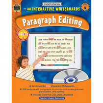 TCR3632 - Interactive Learning Gr 4 Paragraph Editing W/Cd in Editing Skills