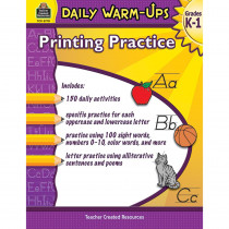 TCR3770 - Daily Warm Ups Printing Practice in Handwriting Skills