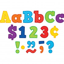 TCR3851 - 4In Playful Block Letter Combo Pack Pattern in Letters