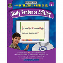 TCR3891 - Interactive Learning Gr 6 Daily Sentence Editing Bk W/Cd in Language Arts