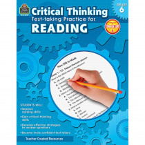 TCR3919 - Gr 6 Critical Thinking Test Taking Practice For Reading in Language Arts