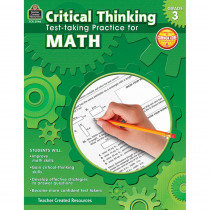 TCR3946 - Gr 3 Critical Thinking Test Taking Practice For Math in Math