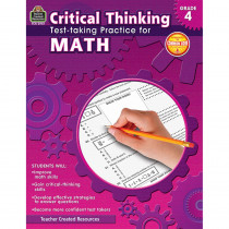 TCR3947 - Gr 4 Critical Thinking Test Taking Practice For Math in Math
