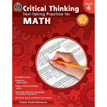 TCR3954 - Gr 6 Critical Thinking Test Taking Practice For Math in Math
