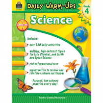 TCR3969 - Daily Warm Ups Science Gr 4 in Activity Books & Kits