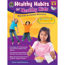 TCR3989 - Gr 3-4 Healthy Habits For Healthy Kids With Cd in Health & Nutrition