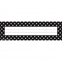 TCR4001 - Black Polka Dots Name Plates in Name Plates