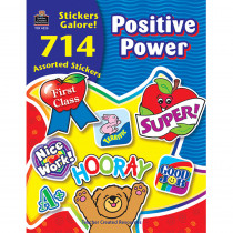 TCR4225 - Positive Power Sticker Book 714Pk in Motivational