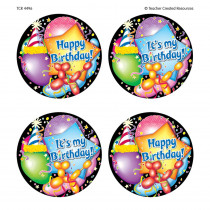 TCR4496 - Happy Birthday Wear Em Badges in Badges