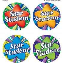 TCR4497 - Star Student Wear Em Badges in Badges